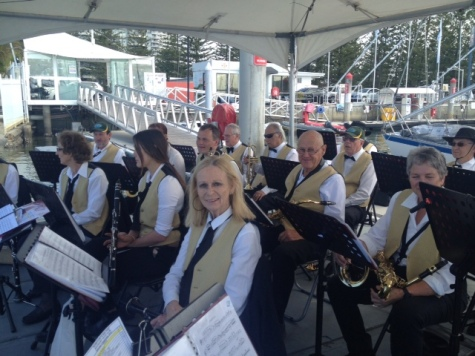 The Band at the 2014 Blessing of the Fleet.