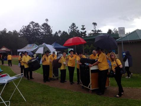 HCB In the rain at Bonogin Fair, 2014