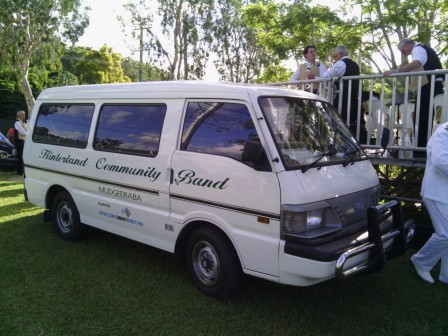 Hinterland Band Van at Mudgeeraba ANZAC Day Sunset Service (2013)