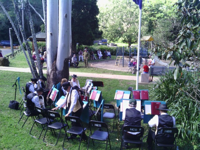 Hinterland Band at Springbrook ANZAC Day Service (2013)