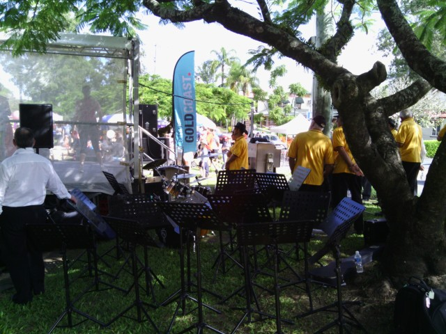 The Hinterland Community Band at the Mudgeeraba Street Party (2013)